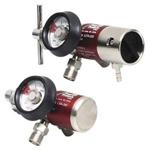 LSP Brass Regulator, CGA 870, 0-25 LPM, w/Gauge, Yoke Pin, Hose Barb Outlet