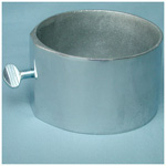 Single Oxygen Cylinder Cup - Floor Mount, For D or E Cylinders