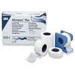 Micropore Paper Adhesive Tape w/Dispenser, 2inch x 10 yard