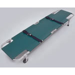 Easy-Fold Aluminum Pole Stretcher, 87inch Open, Green