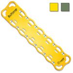 BaXstrap Spineboard, 12 Pins, 16inch W x 72inch L x 2? inch D, Yellow