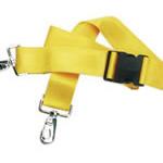 Straps, Nylon, Plastic Side Release Buckle, 2 Piece w/Metal Swivel Speed Clip, Blue, 5 feet