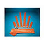 Splint, Padded Board, 3inch x 15inch, Orange Vinyl Cover
