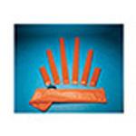 Splint, Padded Board, 3inch x 15inch, Orange Vinyl Cover