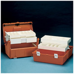 Flambeau Model 2072 Medical Box, 19inch L x 10 3/4inch W x 10 1/8inch D, Hard Plastic, Orange