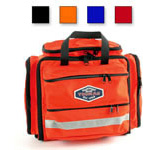Thomas Transport Aeromed Pack, 12inch H x 14inch W x 8inch D w/Pocket Fully Extended, Orange