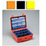 King Hard Drug Case w/ Lid Insert and Bottom Dividers, 23-1/4inch x 20-3/4inch x 9inch, Orange