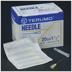 Terumo Standard Hypodermic Needle, Ultra Thin Wall, 23ga x 1 1/2inch