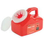Sharps Pro-Tec Container, 6 1/2inch x 3 1/2inch x 3 1/2inch, Red, 1 Quart