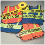 Specialty Vest, Orange with Lime Stripes, INCIDENT COMMAND Printed