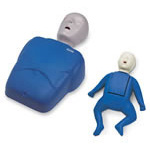 CPR Prompt Professional Duracoat Training Manikin, Tilt Head, Clicking Chest, Blue, Infant