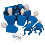 CPR Prompt Training 7 Pack for Manikin, Face Shield/Lung Bag, Carry Case, Blue, Adult/Child/Infant