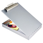 Redi-Rite Clipboard, Recycled Aluminum, Antimicrobial, Letter size