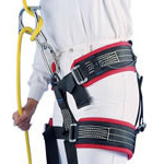 CMC ProSeries Rescue Harnesses, Molded Padding, Black Web With Blue Padding, REG Waist 30-44inch