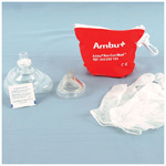 Res-Cue CPR Barrier Mask, w/One-Way Filter, Gloves, Wipes, Red Hard Case