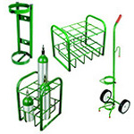Cylinder Holder, Wall Mount, Green, Holds D or E Tank, 14inch x 5inch x 5inch