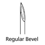 Hypodermic Needle, Regular Bevel, 25ga x 1inch, Sterile