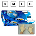 DigitFree Gloves, Latex, Powder Free, 9? inch, XL