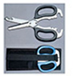 Multi-Purpose Rescue Shears with Holster, Stainless Steel, 8 3/4inch x 3 3/4inch 1/2inch, Blue
