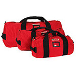 LA Rescue Equipment Duffel, w/o Shoulder Strap, 11inch Diameter x 21inch, Red, SM