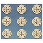 Uniform Service Pin, Maltese Cross, 10 Year Service, Colors May Vary