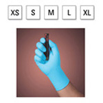 Blue Nitrile Exam Gloves, Powder Free, Single Use, Cuff, Non-Sterile, 9 1/2inch, XSM