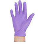 Purple Nitrile Sterile Pairs Exam Gloves, Powder Free, 9 1/2inch Cuff, SM