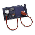 Precision Aneroid Sphygmomanometer with Cuff and Bladder, Blue, Adult