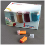 Surgilance Needle Lancet, Gray, 1.8mm Depth, 21ga, Low Blood Flow 10-20 ul