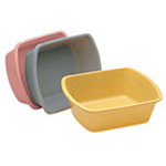 Wash Basin / Foot Tub, Graduated, Rectangular, Disp, 7 qt, 13inch x 10inch x 5inch, Gold