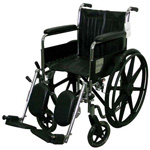 Excel 2000 Wheelchair, 300 pound Capacity, Black, Detachable Arms