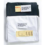 Post Mortem Bag, Plastic with Bound Edges, 3 ID Tags, Standard Strength, White