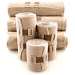 Elastic Bandages, Pre-Attached Clip, 4inch x 5 yards