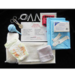 OB Kit, Bagged, w/Gloves, Clamps, Aspirator, No 10 Disp Scalpel, Povidine Prep Pads, Placenta Bag