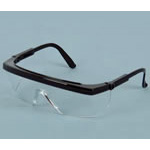 Apollo XR Safety Glasses, Clear Lens, Blue Frame