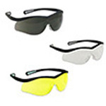 Lightning Safety Glasses, Clear Lens, Black Frame