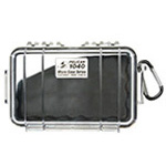 Pelican 1040 Micro Case, 6.50 inch x 3.87 inch x 1.75 inch, Clear w/Blue Liner