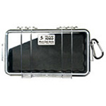 Pelican 1060 Micro Case, 8.25inch x 4.25inch x 2.25inch, Clear w/Black Liner
