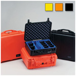 Pelican 1200 Case, 9.25inch x 7.12inch x 4.12inch, Orange w/Pick N Pluck Foam