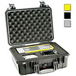 Pelican 1450 Case, 14.62inch x 10.18inch x 6.00inch, Yellow w/o Foam