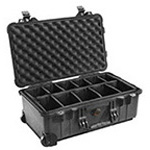 Pelican 1510 Carry-On Case, 19.75inch x 11inch x 7.6inch, Black w/o Foam