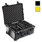 Pelican 1560 Case, 20.37inch x 15.43inch x 9.00inch, Yellow w/Pick N Pluck Foam
