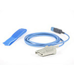 SpO2 Pulse Oximetry Sensor, Reusable, Finger Tip, 2.0m cable length, Greater than 110 lbs, Adult