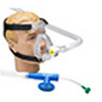 O2 RESQ BiTrac ED Full Face Mask w/Head Strap, CPAP w/10cm Valve, w/o Flow Generator, Adult MED
