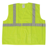 Fluorescent Safety Vest, ANSI Class 2, Lime Green Mesh, LG/XL