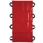 Transfer Sheet, 400 lb Capacity, 8 Handles, 18inch x 72inch, Red