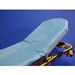 "Taylor's SureFit™, 34"" x 84"", Fluid Resistant, Fitted Stretcher Sheet, Blue, Non-latex Elastic Band"