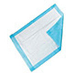 Absorbent Tissue Underpad, Waterproof Backing, 3-Ply Tissue, 17inch x 24inch, Blue