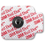 Red Dot 2670 Repositionable Monitoring Electrodes, More Aggressive Adhesive, 3/Bag