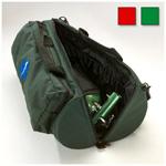 Standard Oxygen Duffel, Size D, w/Pouch, Nylon, Green